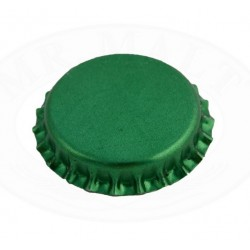 Green bottle caps 26mm - 100
