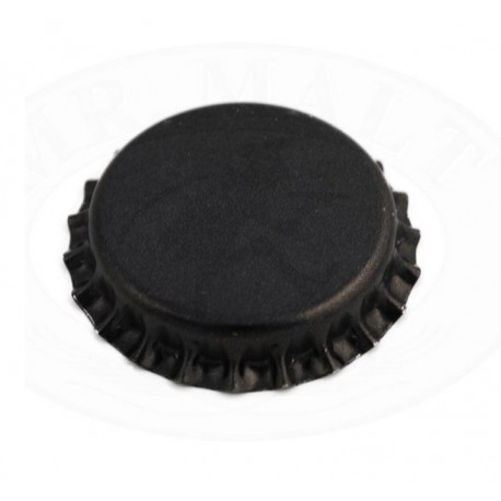 Black bottle caps 26mm - 100