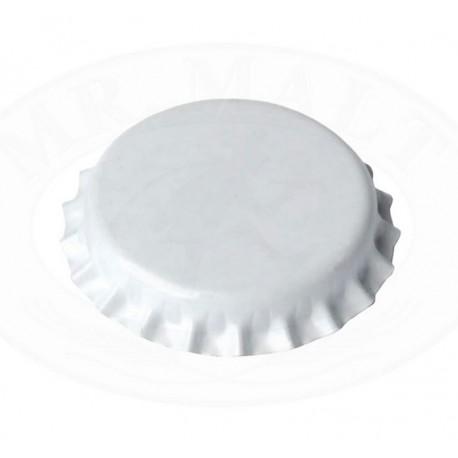 White bottle caps 26mm - 100