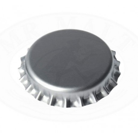 Silver bottle caps 26mm - 100