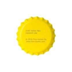 Yellow bottle caps 26mm - 100