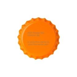 Orange bottle caps 26mm - 100