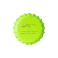 Light green bottle caps 26mm - 100