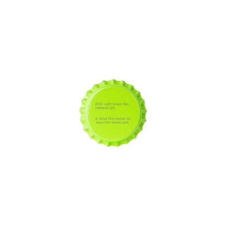 Svetlo zeleni kronski zamaški 26mm - 100