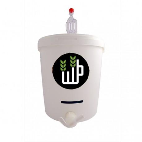 Complete plastic fermentor 16L